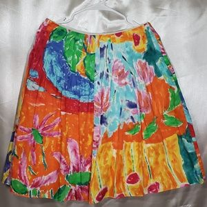 Ralph Lauren Bright Pleated Floral Skirt